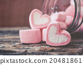 Heart of pink marshmallows 20481861