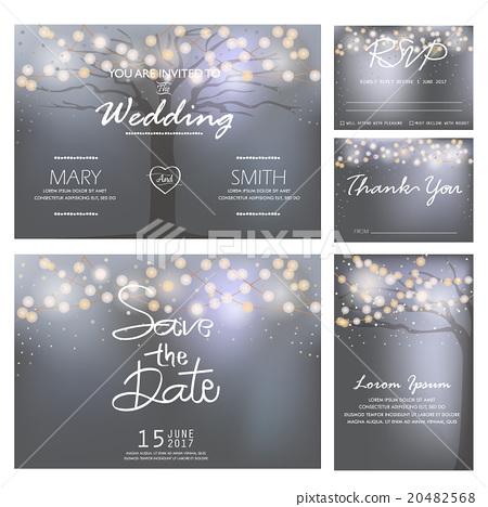 Wedding Invitation Card Template Vector Stock Illustration 20482568 Pixta