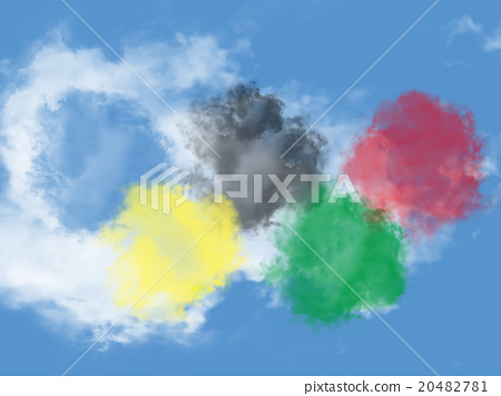 Clouds resembling the color of the Olympic Games 20482781