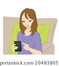 스마트 폰을 조작하는 여성 20483805