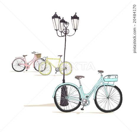 Stock Illustration: vectors, vector, streetlamp