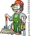 Happy Working Lumberjack or Woodcutter 20488480