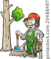 Working Lumberjack or Woodcutter 20488497