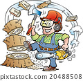 Lumberjack or Woodcutter who chrop Wood 20488508