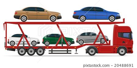 truck semi trailer for transportation of car 20488691