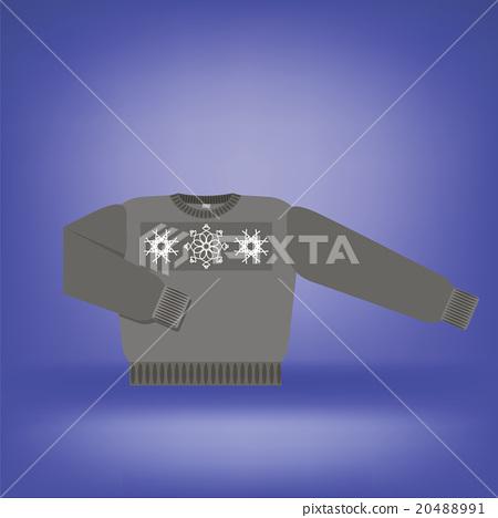 Gray Wool  Sweater 20488991
