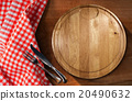 Cutting Board and Cutlery - Table and Tablecloth 20490632