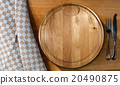 Cutting Board and Cutlery - Table and Tablecloth 20490875