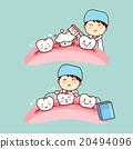 cute cartoon dentist brush tooth 20494096