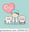 Happy cartoon old tooth 20494102