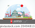 janpan infographic travel place and landmarkVector 20494813