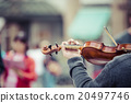 Violin close up with hand 20497746