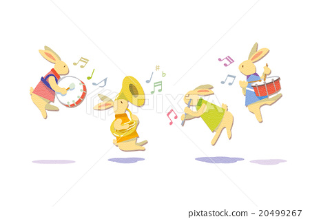 Rabbit playing 20499267