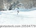 滑雪板 滑翔 夫人 20504779