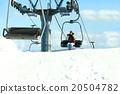滑雪板 舉起 滑雪纜車 20504782