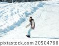 滑雪板 滑翔 夫人 20504798