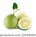 Fresh pomelo isolated on the white background 20508484