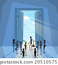 Business People Group Black Silhouette Standing at 20510575
