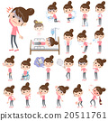 Bun hair mom Pants style About the sickness 20511761