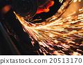 Angel grinder make a flash sparks 20513170