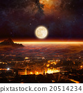 Rising full moon, supermoon 20514234