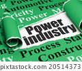 Manufacuring concept: black text Power Industry 20514373