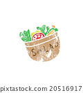 Salad bowl stamp 20516917