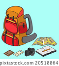 backpacker with travelling item 20518864