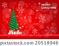 snow flake and chrismas tree with gift boxes  20518946
