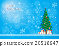 snow flake and chrismas tree with gift boxes 20518947