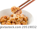 natto, fermented soybeans, japanese meal 20519032