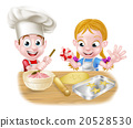 Boy and Girl Baking 20528530