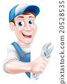 Cartoon Mechanic Plumber Man 20528535