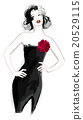 Woman in black dress 20529115