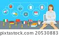 Online Internet Language courses flat illustration 20530883
