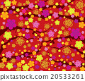 Spring background with branches and flowers 20533261
