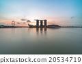 Silhouette Marina Bay during sunrise 20534719