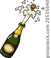 vector, champagne, bottle 20535640