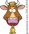 เวกเตอร์,การ์ตูน,วัว 20535654