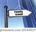 Tourism concept: sign Family Travel on Building 20540027