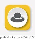 Sun hat icon 20546072