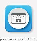 eyelashes icon 20547145