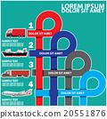 Color transportation symbol and blank stripe 20551876