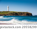 Beauitul beach with lighthouse in Australia 20558299