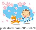 柴犬 叢林犬 賞櫻 20559078