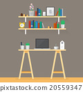 Working space in flat style 20559347