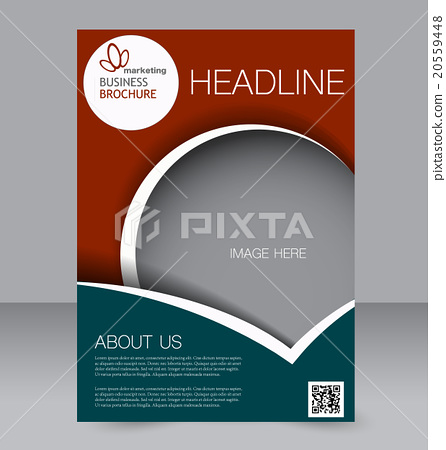 Flyer brochure magazine cover template design stock illustration flyer brochure magazine cover template design maxwellsz