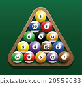 Pool Billiard Balls Rack Starting Position 20559633