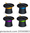 Magic hats vector set 20560863
