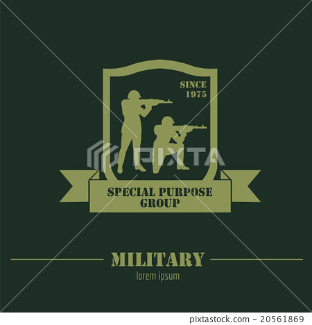 military logo and badges graphic template stock illustration